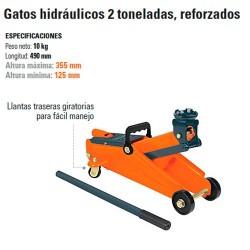 Gato Hidráulico 2 Toneladas Reforzados TRUPER