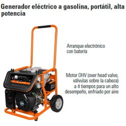 Generador Eléctrico a Gasolina Portátil Alta Potencia TRUPER