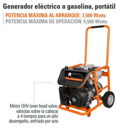 Generador Eléctrico a Gasolina Portátil TRUPER