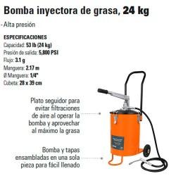 Bomba Inyectora de Grasa 24 Kg TRUPER