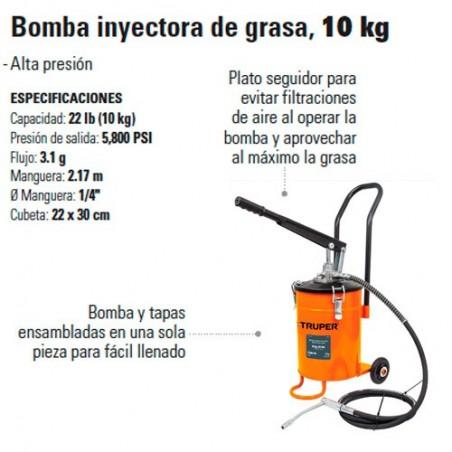 Bomba Inyectora de Grasa 10 Kg TRUPER