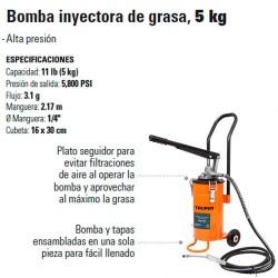 Bomba Inyectora de Grasa 5 Kg TRUPER