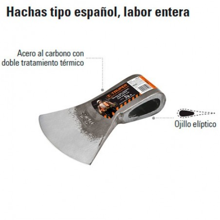Hacha tipo Español Labor Entera TRUPER