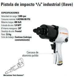 "Pistola de Impacto 1/2"" Industrial Neumatica TRUPER"