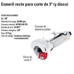 """Esmeril Recto Neumatica Para Corte de 3"""" TRUPER"""