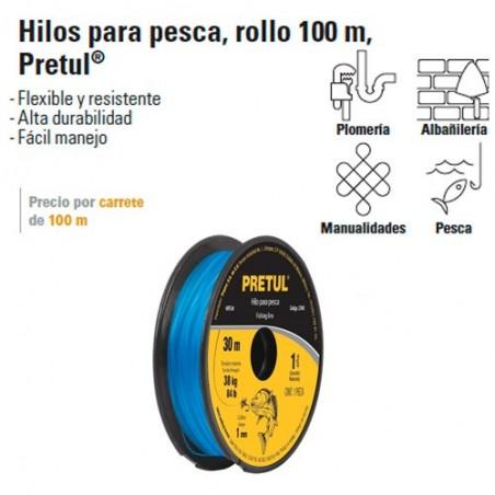 Hilo para Pesca Rollo 100 m PRETUL