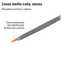 Lima Media Caña Muzas TRUPER