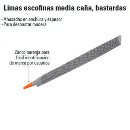 Lima Redonda Media Caña Bastarda TRUPER