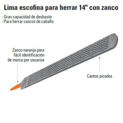 "Lima Escofina para Herrar 14 "" con Zanco TRUPER"