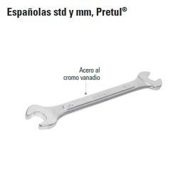 Llave Española STD y MM PRETUL