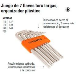 Juego de Llaves Torx Largas Organizador Plástico TRUPER