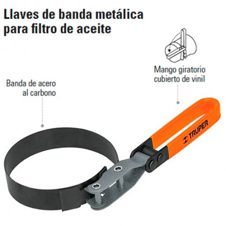 Llave de Banda Metálica para Filtro de Aceite