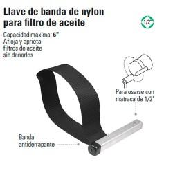 Llave de Banda de Nylon para Filtro de Aceite TRUPER