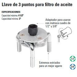 Llave de 3 Puntos para Filtro de Aceite TRUPER