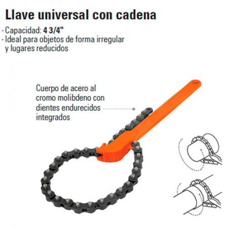 Llave Universal con Cadena TRUPER