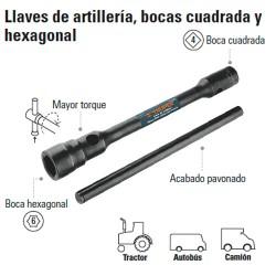 Llave de Artillería Boca Cuadrada y Hexagonal TRUPER