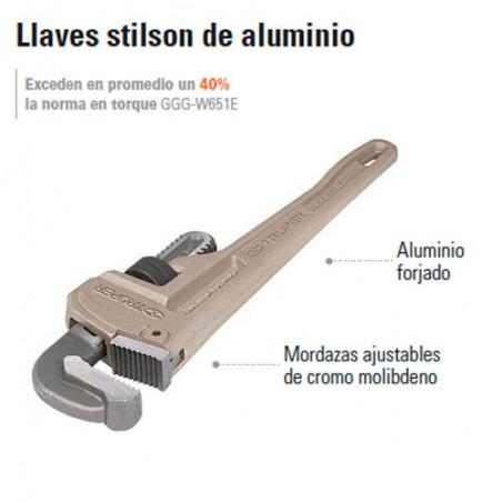 Llaves Stilson de Aluminio TRUPER