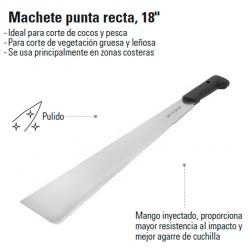 "Machete Punta Recta 18"" TRUPER"