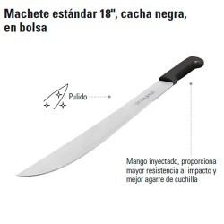 """Machete Estándar 18"""" Cacha Negra TRUPER"""