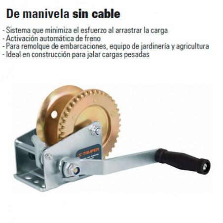 Malacate de Manivela Sin Cable TRUPER