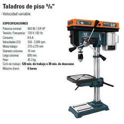 """Taladro de Piso 5/8"""" TRUPER"""