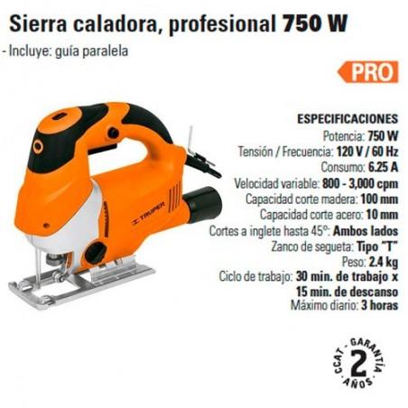 Sierra Caladora Profesional 750 W TRUPER