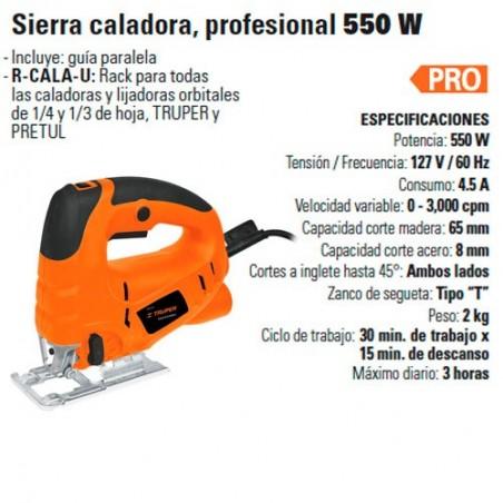 Sierra Caladora Profesional 550 W TRUPER