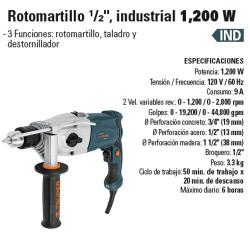 "Rotomartillo 1/2"" Industrial 1200 W TRUPER"