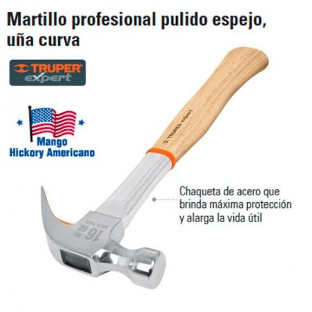 Martillo Profesional Pulido Espejo Uña Curva TRUPER