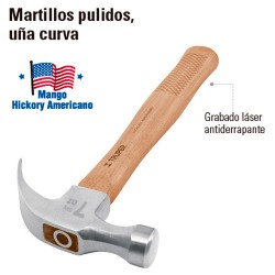 Martillo Pulido Uña Curva TRUPER