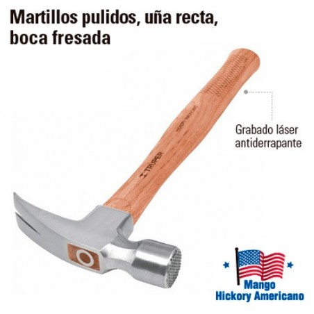 Martillo Pulido Uña Recta Boca Fresada TRUPER
