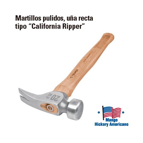 """Martillo Pulido Uña Recta Tipo """"California Ripper"""" TRUPER"""