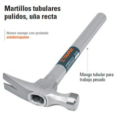 Martillo Tubular Pulido Uña Recta TRUPER