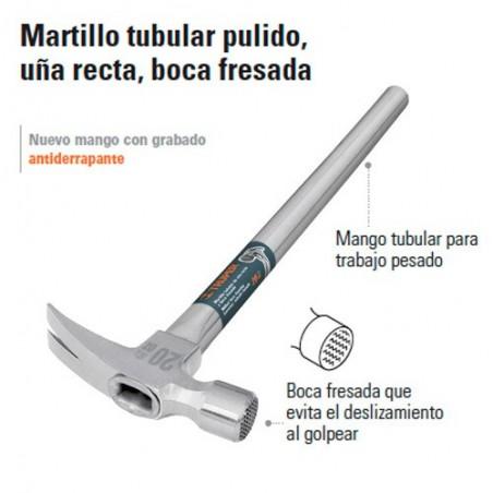 Martillo Tubular Pulido Uña Recta Boca Fresada TRUPER