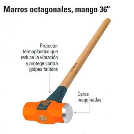 """Marro Octagonal Mango 36"""" TRUPER"""