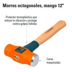 """Marro Octagonal Mango 12"""" TRUPER"""