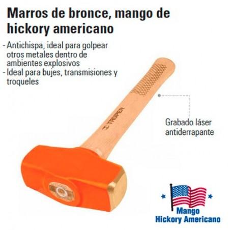 Marro de Bronce Mango de Hickory Americano TRUPER