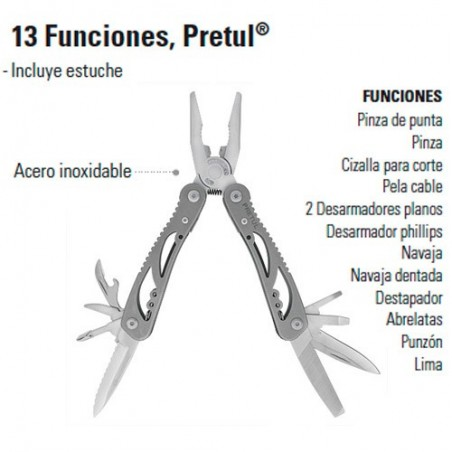 Multiherramienta 13 Funciones PRETUL