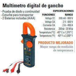 Multímetro Digital de Gancho TRUPER