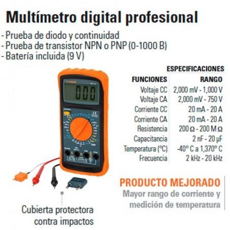 Multímetro Digital Profesional TRUPER