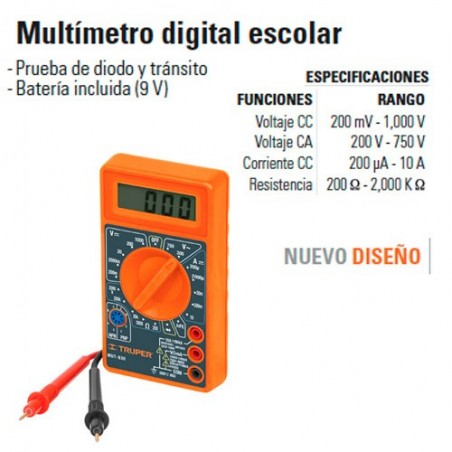 Multímetro Digital Escolar TRUPER
