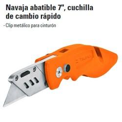"""Navaja Abatible 7"""" Cuchilla de Cambio Rápido TRUPER"""