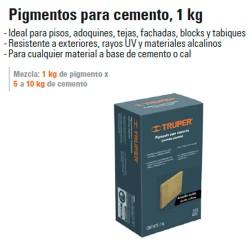 Pigmentos para Cemento 1 Kg TRUPER