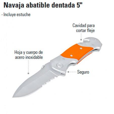 "Navaja Abatible Dentada 5"" TRUPER"