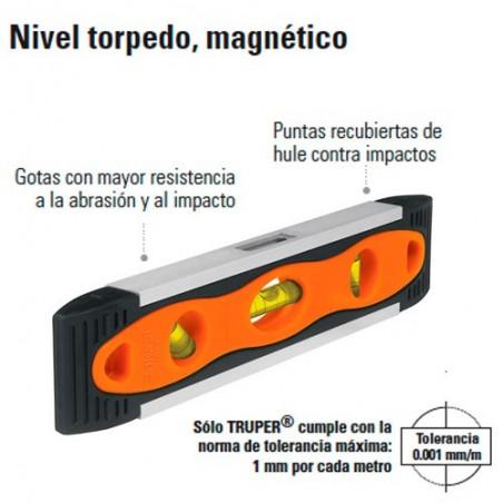 Nivel Torpedo Magnético TRUPER