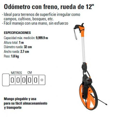 "Odómetro con Freno Rueda de 12"" TRUPER"
