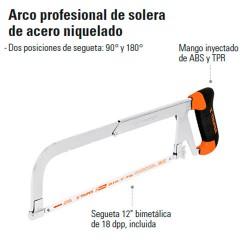Arco Profesional de Solera de Acero Niquelado TRUPER