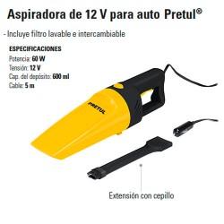 Aspiradora 12V para Auto PRETUL