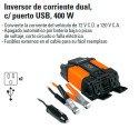 Inversor de Corriente Dual USB 400W TRUPER