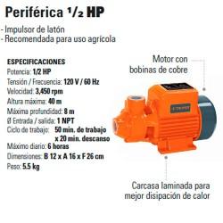 Bomba Periferica 1/2 HP TRUPER